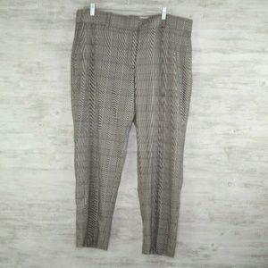 J Crew Trousers Sz 16 Gray Red Womens Dress Pants